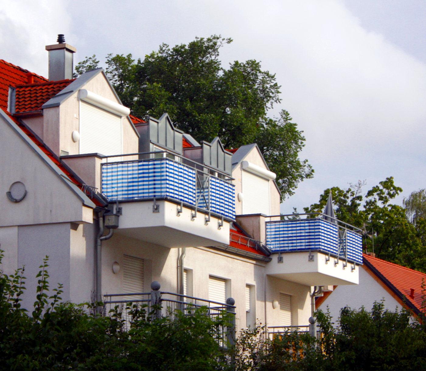 Sichtschutz Für Meinen Balkon Aus Bambus Stoff Holz Oder Edelstahl
